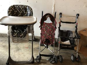 Strollers. High chair. for Sale in San Diego, CA