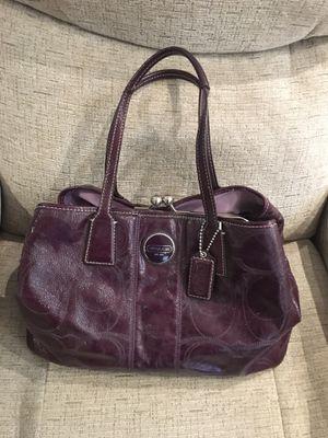 Beautiful Coach plum handbag for Sale in Willow Grove, PA