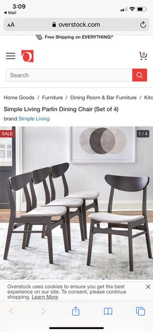 Parlin Dining Chair Set of 4 (Brand New) for Sale in Germantown, MD