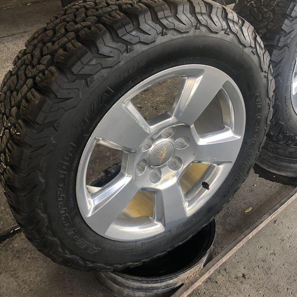 2016 Chevy Silverado Rims 275-60-20 BFGoodrich Tires Set