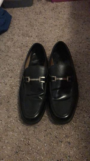 Salvatore Ferragamo Men's Black Leather Dress Shoes (Size 10.5) for Sale in Tampa, FL