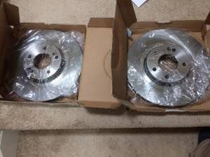 Power Stop front brake rotors