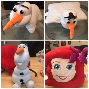 Olaf Pillow Pet, Little Mermaid Pillow, Plush Olaf doll. for Sale in Pflugerville, TX