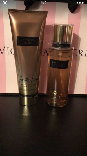 Victoria's Secret Vanilla Lace Duo Fragrance Mist And lotion new the lotion is sealed for Sale in Orlando, FL