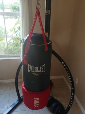 Home boxing gym/Weight Bench and dumbells for Sale in Ruskin, FL