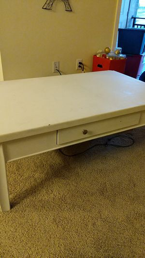 Large white coffee table for Sale in Denver, CO