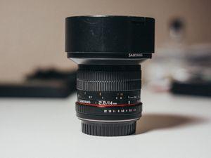 Samyang 14mm 2.8 Canon Lens for Sale in Frisco, TX