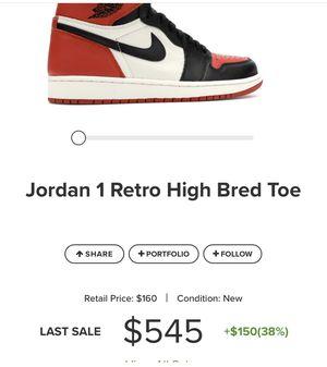 Size 12 Jordan 1 Retro High Bred for Sale in Atlanta, GA