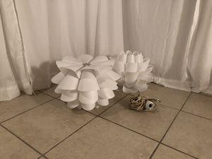 White ikea pendant lights (2) for Sale in Oakland Park, FL