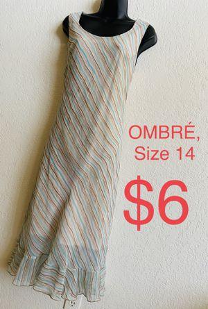 OMBRÉ, Beige Multicolored Striped Dress, Size 14 for Sale in Phoenix, AZ