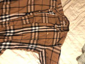 Burberry medium button up shirt for Sale in Winter Garden, FL
