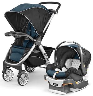 The Chicco Bravo Trio System Includes Bravo Stroller, KeyFit 30 Infant Car Seat and 2 Bases. Made in 2017 for Sale in Milpitas, CA