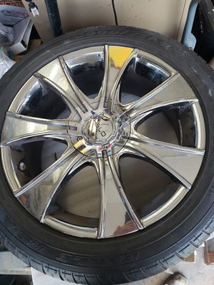 P245/45R18 tires and Helo chrome rims for Sale in Edison, NJ