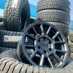 "17"" RACELINE WHEELS & TIRES SPECIAL Satin Black Includes Falken Wildpeak AT3 265/70R17 Tires Complete $1399 for Sale in Hacienda Heights, CA"