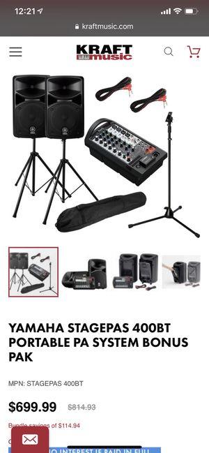 Yamaha Stagepas 400i PA system bundle concert, musician for Sale in Clarksburg, MD