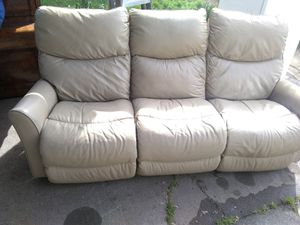 Nice tan lazy boy recliner couches $60 for Sale in Stockton, CA
