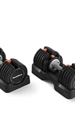 NordicTrack 55 lb Select-a-Weight Dumbbell Pair, Black for Sale in Fresno,  CA