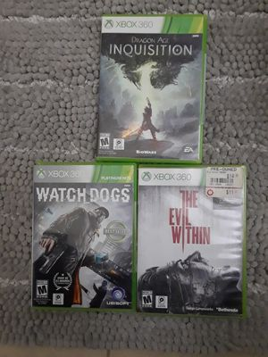 3 XBOX 360 GAMES take all 6 $ for Sale in Riverside, CA