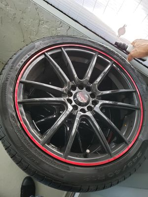 """5x112 - 18"""" Akita racing wheels with tires for Sale in Orlando, FL"""