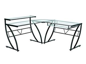 ZLine L Shaped Glass Desk for Sale in San Diego, CA