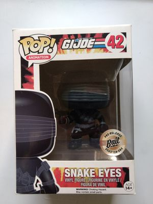 Snake Eyes GI Joe pop figure for Sale in Bellevue, WA