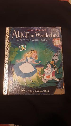 Vintage 1979 a little Golden Book Alice in Wonderland for Sale in Bakersfield, CA
