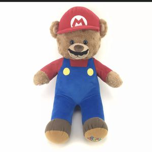 Super Mario Build A Bear Plush Mario Stuffed Bear Complete Costume for Sale in Mesa, AZ