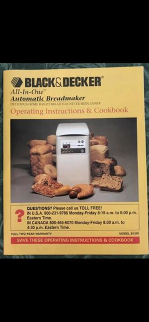 Black & Decker All-In-One Automatic Breadmaker for Sale in Cypress, CA