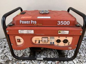 [[MUST SEE]] GENERATOR 3500 Watts (BRAND: PowerPro) ONLY NEEDS CARBURETOR CLEANED/ Starts From Starting Fluid    350 FIRM EXCELLENT DEAL for Sale in Miami, FL