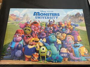 Disney Pixar monsters university lithographs for Sale in South San Francisco, CA