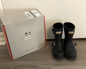 Black Hunter Boots US Girls 10 for Sale in Yorba Linda, CA