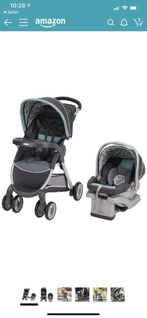 Graco FastAction Fold Travel System (Stroller and Car Seat), Affinia for Sale in Nashville, TN