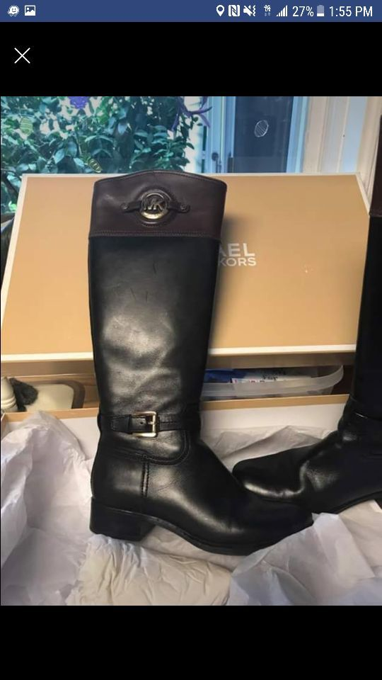 Michael Kors Riding Boots size 6 like NEW! Price is negotiable if reasonable