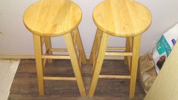 2 bar stools. Both 2 ft tall