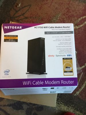 Netgear AC1750 WiFi cable modem router for Sale in Raleigh, NC