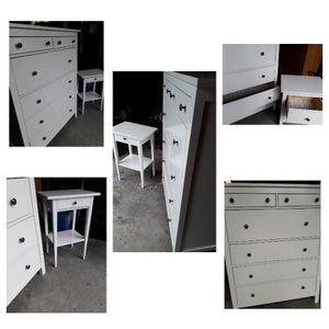 1 dresser and 1 nightstand white ikea for Sale in Shoreline, WA