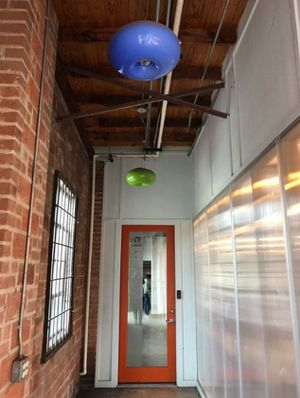 Set of 2 retro hanging light fixtures for Sale in Dallas, TX