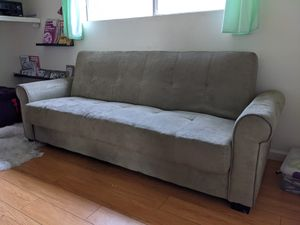 Grey Futon/Couch for Sale in Los Angeles, CA