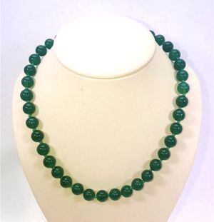 Natural beautiful dark Jade large round stone beads necklace strand NEW! for Sale in Carrollton, TX