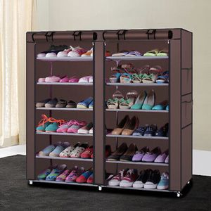 NEW 6 Tier Shoe Rack Adjustable Shelf Storage Closet Organizer Cabinet with Cover for Sale in Brentwood, TN