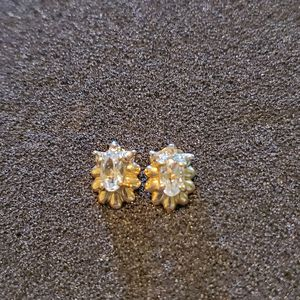 10k cz and diamond earrings (vintage) for Sale in PA, US