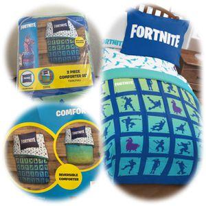 Fortnite 2 piece comforter set for Sale in Las Vegas, NV