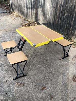 Vintage Handy Table folding portable picnic table with integrated seats for Sale in Irving, TX