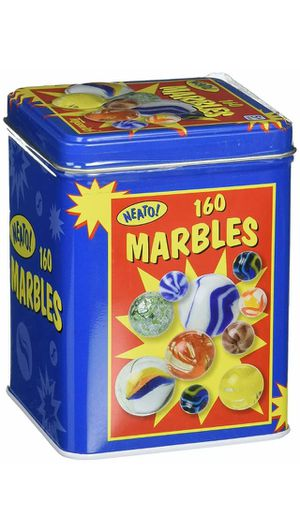 Marbles in a Tin Box 160-Piece for Sale in Arlington, TX