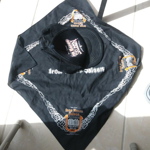 DAYTONA. Iron Horse Saloon Old Hat And Bandana From 1989