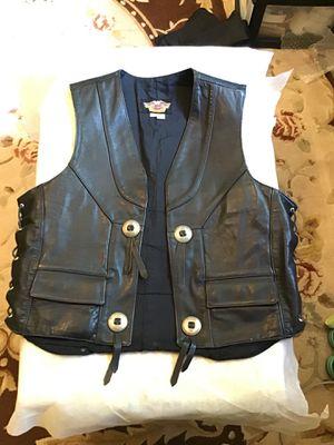 Harley Davidson 1990's Men's Gamblers Leather Vest for Sale in Templeton, CA