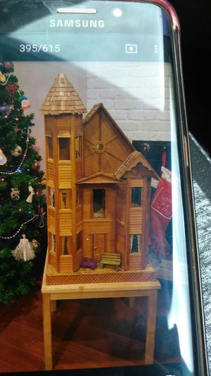 Antique Victorian doll house with antique dolls and furniture for Sale in Vancouver, WA