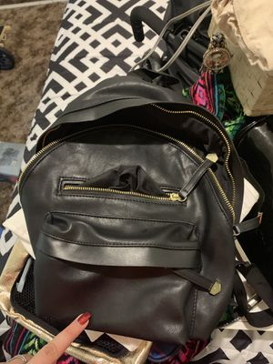 Mini black faux leather backpack for Sale in Montclair, CA