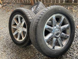 Gmc Denali Yukon oem wheels and tires 20 for Sale in Tukwila, WA