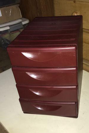 4 Drawer Hard Plastic Storage 13 in x 13 in x 9 in for Sale in Boca Raton, FL